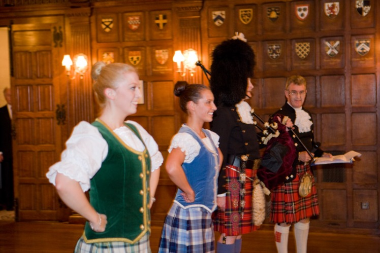 Dancers with Glen and Pipe Major