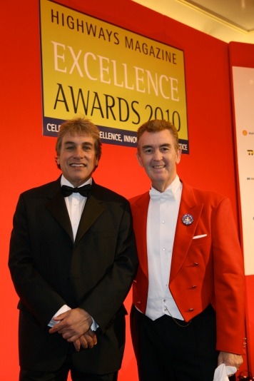 Glen at an awards ceremony with John Inverdale