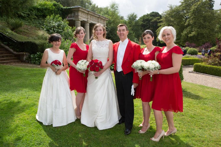 Glen with Bride and Bridesmaids