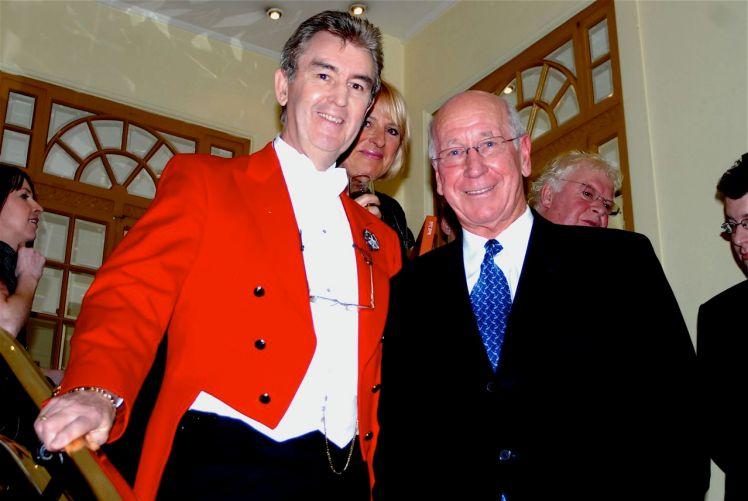 Glen with Sir Bobby Charlton
