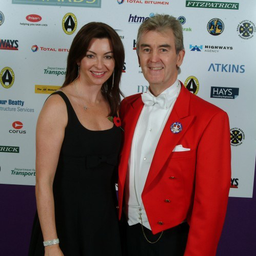 Glen at awards ceremony with Suzi Perry