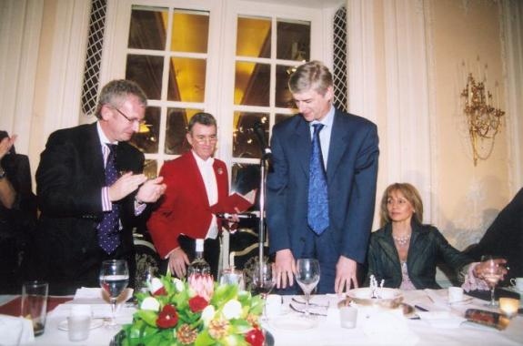 Glen seen here with Arsene Wenger at the Savoy