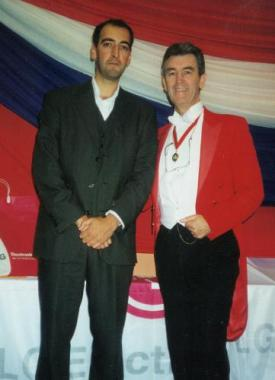 Glen seen here with Alistair McGowan