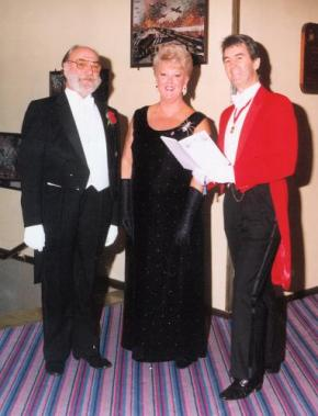 Glen seen here with the Masonic President and his Lady