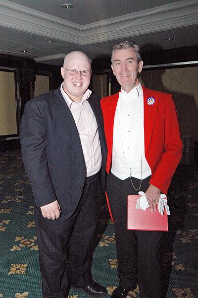 Glen seen here with Matt Lucas, Little Britain