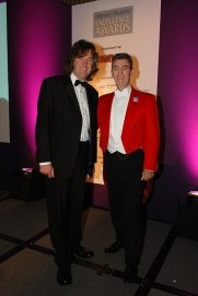 Glen with television's 'Top Gear' co-presenter James May at the Highways and Byways Excellence Awards Dinner