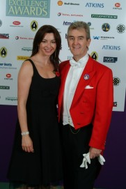 Glen with Suzi Perry at the Highways and Byways Awards Ceremony